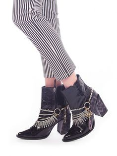 Lady in the Lake Boot Straps Diy Jewelry, Fashion Jewelry, Vanessa Mooney, Body Armor, Heeled Mules, Peep Toe, My Style, Lady, Heels