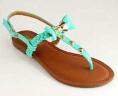 bow sandal mint
