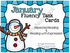 January Fluency Task Cards from Extra Special Teaching on TeachersNotebook.com -  (34 pages)  - These fluency task cards help students improve their reading by repeated reading and practicing reading with expression.