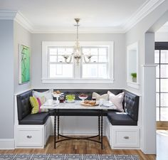 BREAKFAST NOOK LOOK   BUILT IN BANQUETTE SEATING | New House Ideas |  Pinterest | Corner Breakfast Nooks, Banquette Seating And Banquettes