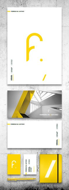 Ferreira Rui Antonio branding designed by Michael Pérou. Graphic Design Print, Stationery Design, Graphic Design Typography, Corporate Design, Brand Identity Design, Web Design, Creative Design, Packaging Inspiration, What Is Fashion Designing