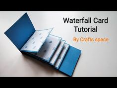 Waterfall Card Tutorial | How to make a waterfall card? | By Crafts Space - YouTube Diy Waterfall, Waterfall Cards, Waterfall Sketch, Waterfall Tattoo, Waterfall Quotes, Waterfall Dresser, Waterfall House, Waterfall Island, Waterfall Wedding