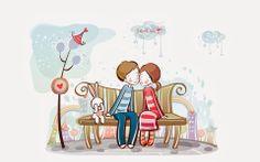 32 Best Love Images Valentines Cartoon Wallpaper Couples