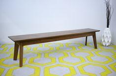 Modern Walnut Bench, Midcentury Modern Bench, Walnut Bench, Dining Table Bench, The Vermonter