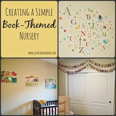 Quirky Bookworm Creating A Simple Book Themed Nursery Making Easy Collage