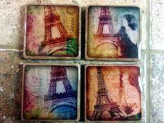 Paris Coaster Crafts, Coasters, Paris, Painting, Montmartre Paris, Coaster, Painting Art, Paris France, Paintings