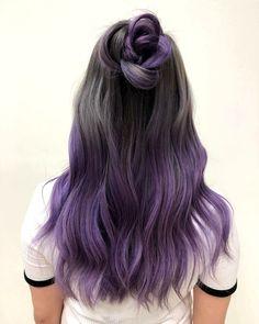 purple dip dye hair - hair styling- lila Dip Dye Haare – Haarstyling purple dip dye hair – hair styling check more at - Pastel Dip Dye, Purple Dip Dye, Dyed Hair Purple, Dyed Hair Pastel, Hair Color Purple, Hair Dye Colors, Dye My Hair, Cool Hair Color, Purple Hair