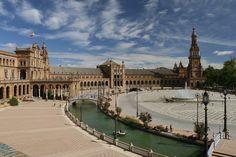 スペイン広場, セビリア, スペイン, アンダルシア, アーキテクチャ