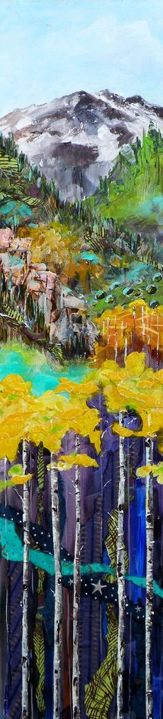 """Living in this beautiful state I love the scenes this LAYER painting shows...this one titled """"Colorado Layers"""""""