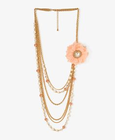 Tulle Rosette Chain Necklace | FOREVER21 - 1027704578