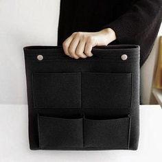 Bag in Bag Felt Casual Travel Multi-pockets Storage Bag Liner Package – narachic Handbag Organization, Linnet, Crossbody Wallet, Knitted Gloves, Casual Bags, Hand Warmers, Bag Sale, Alter, Womens Scarves