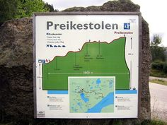 "Preikestolen Map ""Preacher pulpit"" hike info"
