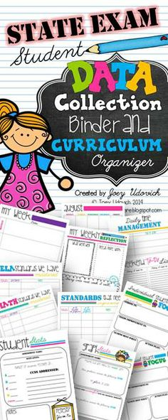 Organization leads to success!  Let's do this together with my Data and Curriculum Binder.  121 pages of total organization.  It comes with a COMPLETE checklist of Math and ELA Common Core Standards, printable graphs, and form after form of individual and group data collection!  Come check out my preview on TpT for a closer look. :) $