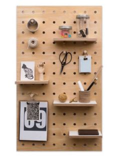 Are you interested in our Wooden pegboard plywood storage panel? With our natural birch plywood peg board you need look no further. Hang Pegboard, Wooden Pegboard, Pegboard Storage, Wooden Pegs, Wall Storage, Pegboard Display, Garage Storage, Plywood Storage, Plywood Shelves