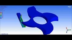 ANSYS Workbench Explicit Dynamics FEA of the milling of an aluminum stri...