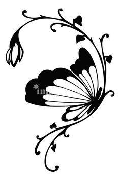 Butterfly Art 2 by Black Rose Butterfly Outline, Butterfly Drawing, Butterfly Design, Butterfly Colors, Butterfly Stencil, Butterfly Wall Art, Line Drawing, Rock Art, Wall Art Prints