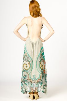Silk Paisley Maxi with a 'how low can you go' back.