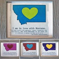 Custom color Montana LOVE canvases.  http://www.warbleswithbella.com/products/custom-color-montana-love-canvas-framed