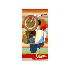 Vespa Panel II Wall Art Print ($40) ❤ liked on Polyvore featuring home, home decor, wall art, entertainment, hockey, nhl, nhl teams, sports, st. louis blues and traditional sports