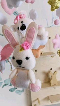 Felt Animal Patterns, Stuffed Animal Patterns, Baby Decor, Nursery Decor, Felt Mobile, Felt Diy, Felt Animals, Handmade Decorations, Handmade Toys