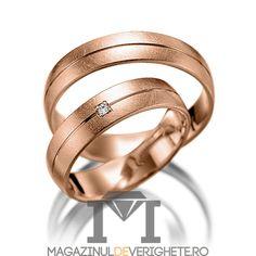 Verighete aur roz 5.5mm MDV5062 #verighete #verighete5mm #verigheteaur #verigheteaurroz #magazinuldeverighete Aur, Bangles, Bracelets, Wedding Rings, Engagement Rings, Model, Jewelry, Diamond, Enagement Rings