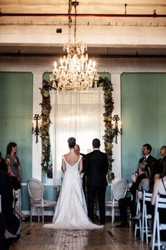 Photography by brookelynphotography.com/ Second Photographer by ruthannephotography.com/ Wedding Coordintator by greenappleweddings.com/ Floral Design by melarosa.com/  Read more - http://www.stylemepretty.com/2013/04/24/long-island-city-metropolitan-building-wedding-from-brookelyn-photography/