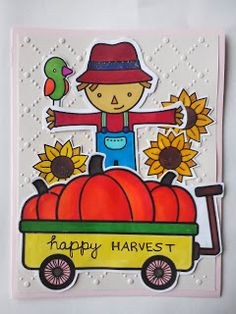Simple Art & Craft: Lawn Fawn happy harvest