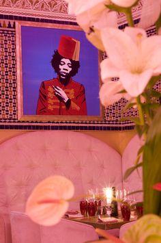 Hendrix (Moroccan Warhol style) at the Djellabar, Marrakech