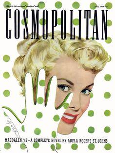 Cosmopolitan vintage magazine cover, May 1949