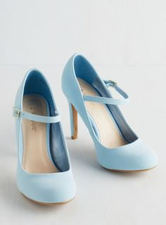 Shoe Had Me At Hello Heel in Sky cute fashion shoes modcloth