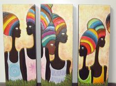 Africanas en pastizal