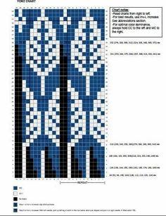 Knitting Chart Resources – The Best Ideas Fair Isle Knitting Patterns, Fair Isle Pattern, Knitting Charts, Knitting Stitches, Knit Patterns, Knitting Sweaters, Crochet Chart, Filet Crochet, Fair Isle Chart