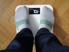 Yunmai Mini Smart Fat Scale - premier essai poids en kilo