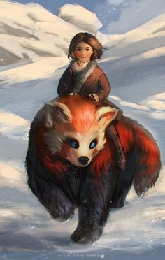 red panda by sheer-madness
