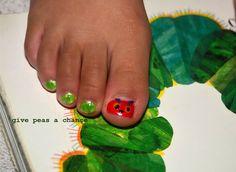 Hungry Caterpillar Toe nails