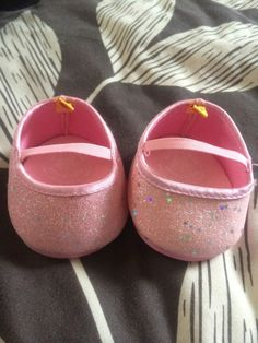 Build A Bear Pink Sparkly Shoes