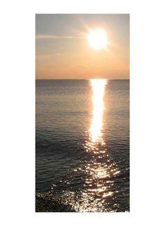Sonnenuntergang Motivdruck Stoff 110 g/m², SCHWER ENTFLAMMBAR NACH B1.