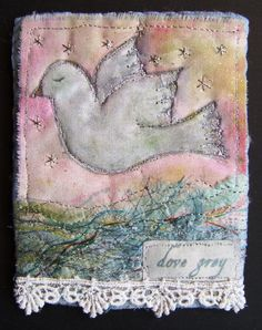 fabric collage by linda vincent, lindavincent.blogspot