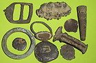 Ancient ROMAN MEDIEVAL ARTIFACTS ring coins jewelry lot buckle gold old antique - ANCIENT, ANTIQUE, artifacts, BUCKLE, coins, GOLD, jewelry, medieval, Ring, Roman