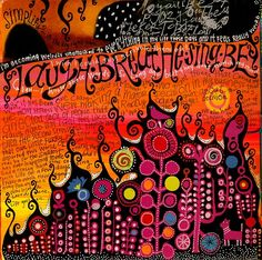 Art Journaling - love the bold color with the black