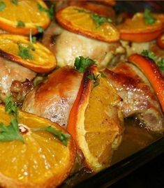 Backed orange chicken Baked Orange Chicken, Baked Chicken, Chicken Tenderloins, Cooking Recipes, Healthy Recipes, Healthy Foods, Everyday Food, Main Dishes, Spicy