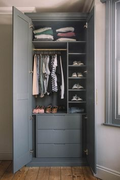 Our Bedroom Wardrobes: The Before & After! – Poppy Deyes Our Bedroom Wardrobes: The Before & After! Alcove Wardrobe, Bedroom Alcove, Bedroom Built In Wardrobe, Wardrobe Room, Diy Wardrobe, Bedroom Closet Design, Bedroom Furniture Design, Closet Designs, Pipe Furniture