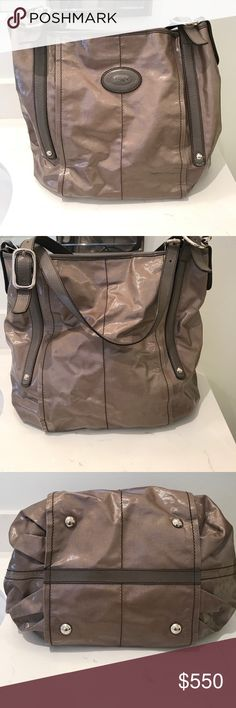 4078aebac4e73 TODS G-Bag Tote TOD S Gray Coated Canvas G-Bag Sacca Grande Tote Bag