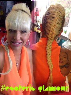 French braid with Chinese bangs