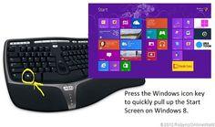 Windows key start screen tip for Windows 8 #WindowsChampions