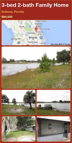 3-bed 2-bath Family Home in Deltona, Florida ►$80,000 #PropertyForSale #RealEstate #Florida http://florida-magic.com/properties/77794-family-home-for-sale-in-deltona-florida-with-3-bedroom-2-bathroom