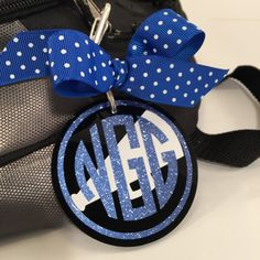 A personal favorite from my Etsy shop https://www.etsy.com/listing/237750653/cheer-monogram-bag-tag-on-black-acrylic