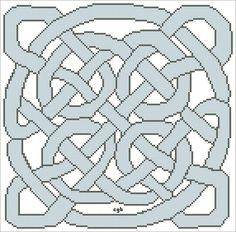 Free Celtic Knot One Cross Stitch Patterns: Free Two Color Celtic Knot One Cross Stitch Pattern