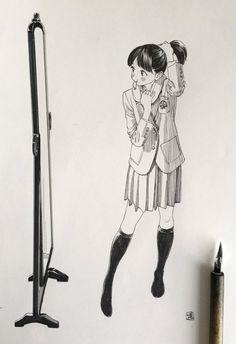"""博さんのツイート: """"姿見前で脚を少し長く見せてから学校へ行く女の子 https://t.co/SMVFOdqtrR"""""""