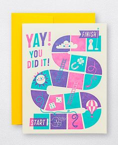 You Did It Congratulations Card  from Hello! Lucky for $4.50